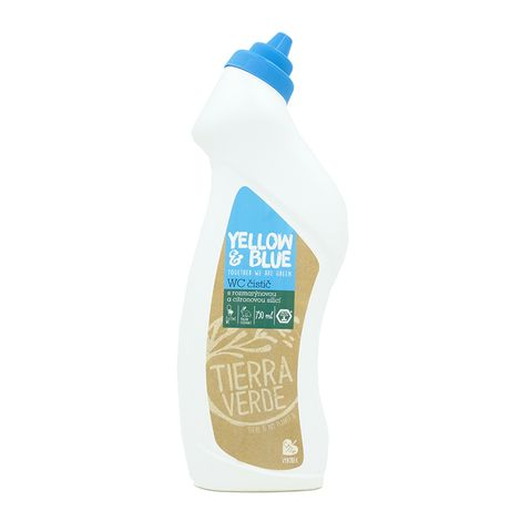 WC čistič fľaša 750ml Yellow & Blue